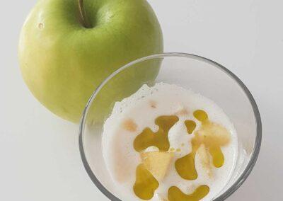 Ajoblanco con manzana