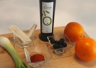 Receta fácil ensalada de naranja con bacalao y aove